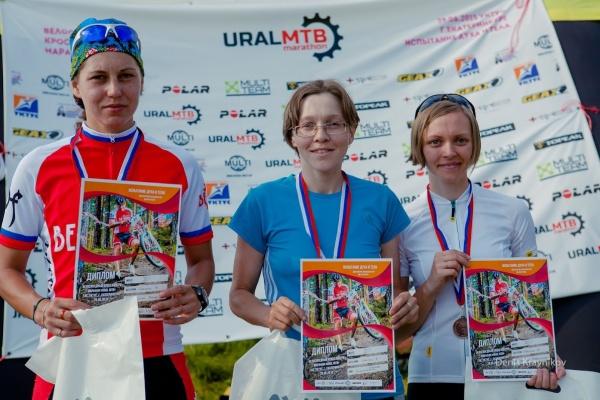 Награждение Новичков Женщин - Ural MTB Marathon 2015