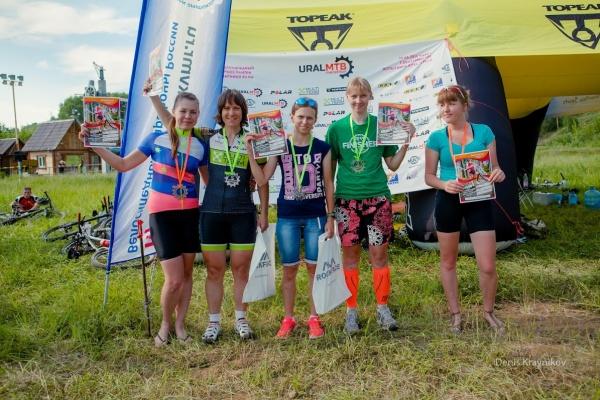 Награждение Ж 18+ - Ural MTB Marathon 2015