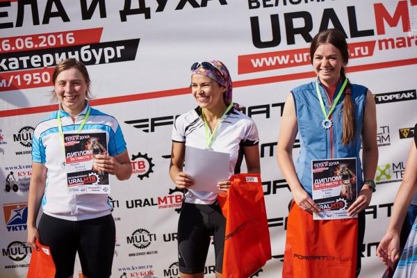Награждение Новичков Женщин - Ural MTB Marathon 2016