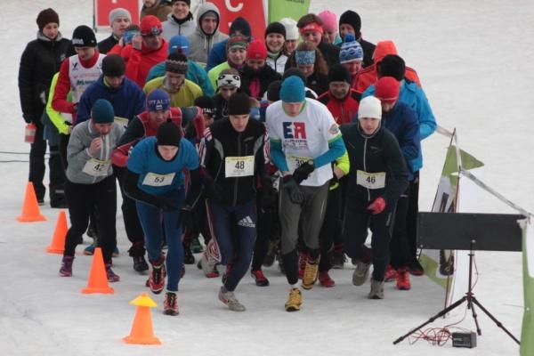 Старт участников на 5 и 10 км
