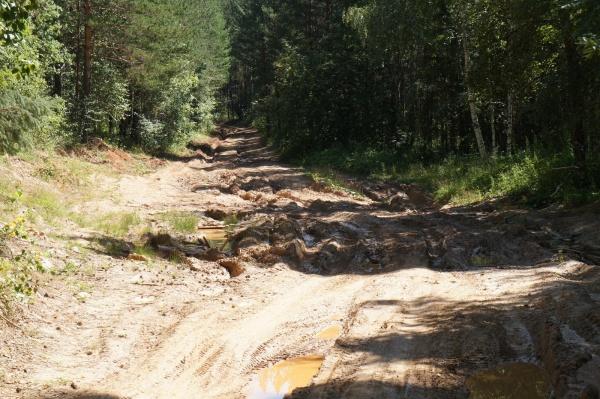Сухая разбитая глинистая дорога