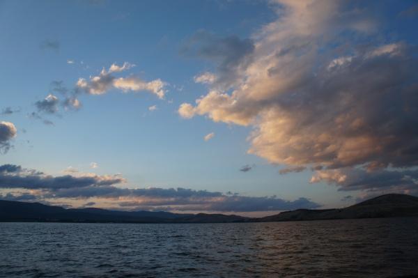 Закат на озере Банное